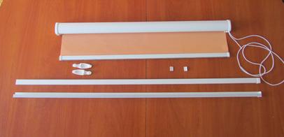 W komplecie są wszystkie elementy potrzebne do zamontowania rolety