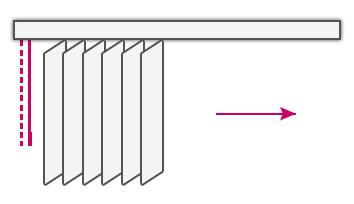 sterowanie żaluzji z lewej lub prawej strony
