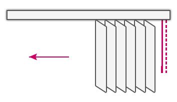 sterowanie żaluzji z prawej lub lewej strony